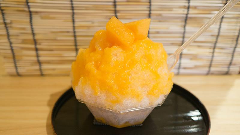 生メロン(果肉入り) かき氷 椛屋